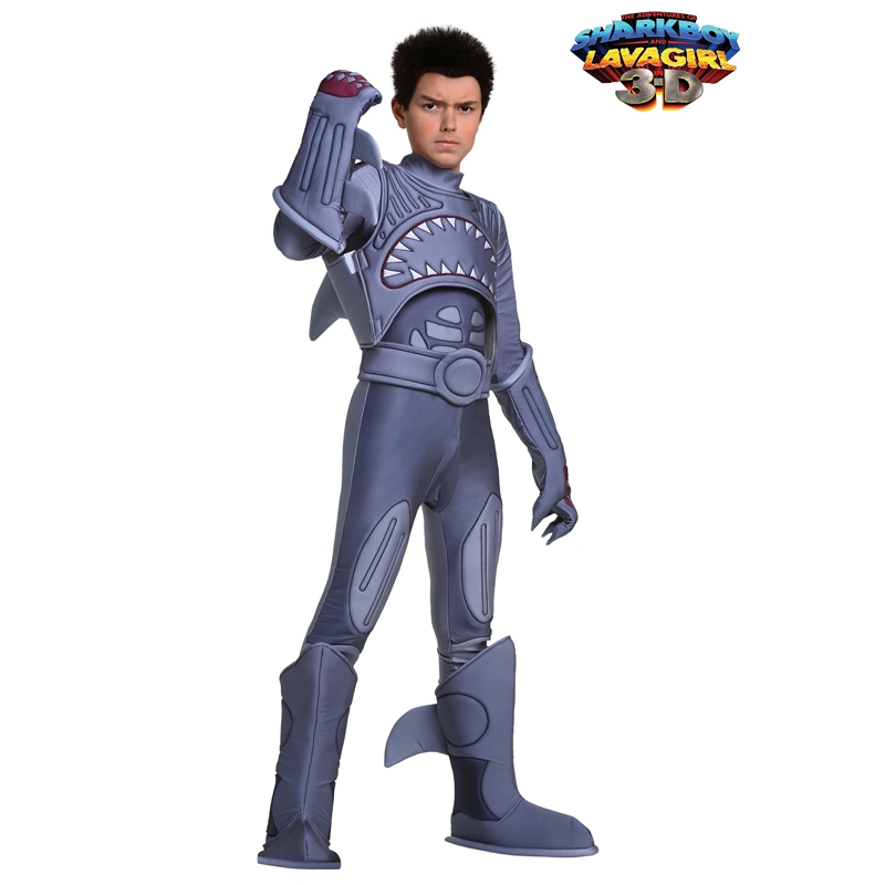 Sharkboy For Boys Fantasy Comedy Superhero Adventure Film Role Halloween Cosplay Costume Masquerade Performance Parties Carnival