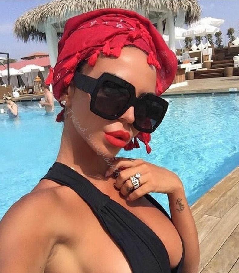Luxury Brand Square sunglasses for women Retro Vintage Sun Glasses For women's Sunglasses Female 2019 gafas lentes de sol mujer (35)