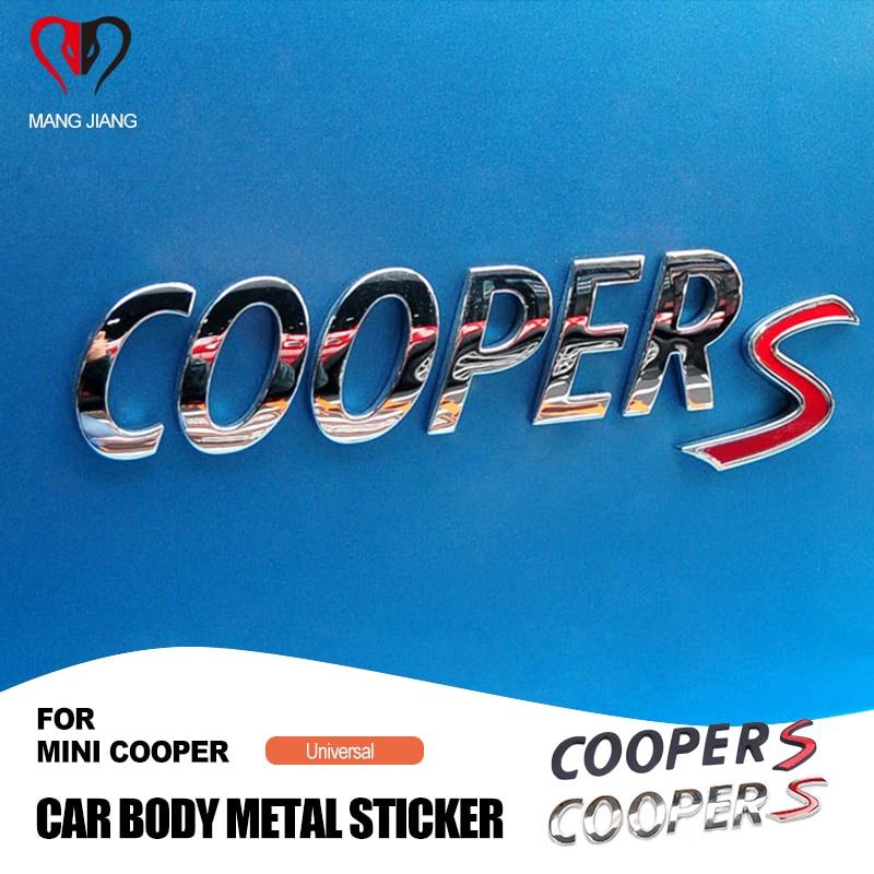 Badge autocollant en métal 3D pour MINI Cooper toutes séries, emblème arrière de voiture pour Mini Cooper F54 F55 F56 F60 R55 R56 R60
