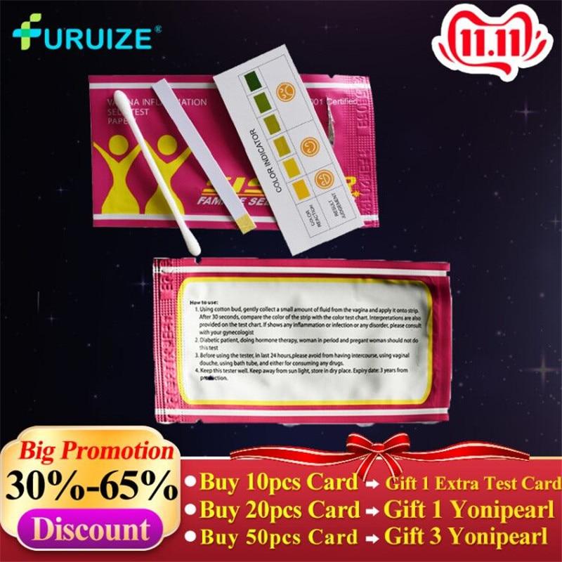 10pcs Female self test card gynecological inflammation female vaginal self-test women health care