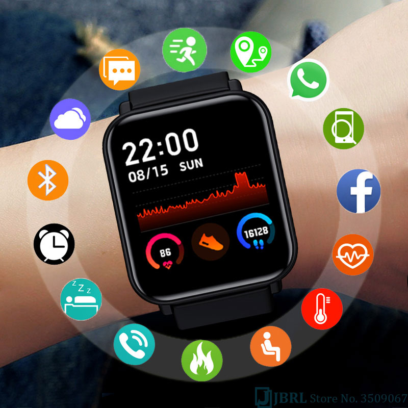 Full Touch Smart Watch Women Men Smartwatch Electronics Smart Clock For Android IOS Fitness Tracker Sport Bluetooth Smart-watch
