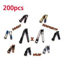 200 parafuso de cobertura pçs 6 traseira parágrafo iphone 6s mais novo de doca parafusos inferiores cinco estrelaspentalobe 7G 8G 5 5S