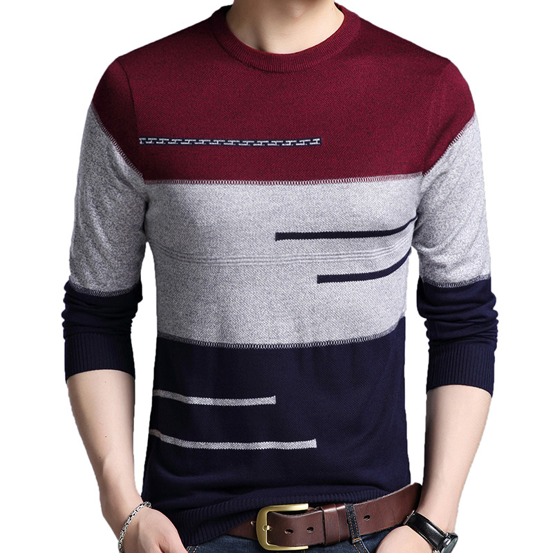 Zogaa 2019 Brand Male Pullover Sweater Men Knitted Jersey Striped Sweaters Mens Knitwear Clothes Sueter Hombre Camisa Masculina