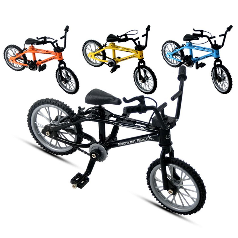 Mini Finger Bicycle Toys Creative Alloy Finger Mountain Bike Children Grownup BMX Fixie Bicycle Finger Scooter Toy Gift