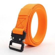 125-160CM Orange Blue Men Tactical Belt Outdoor Canvas 2.5cm Wide Eye Snake Nylo
