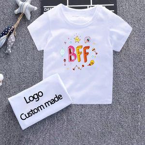 Bff Best Friends Print Kids T Shirt Cute Painted Casual Boy Girls T-Shirt Design Aesthetics Harajuku White O-Neck Short Sleeve