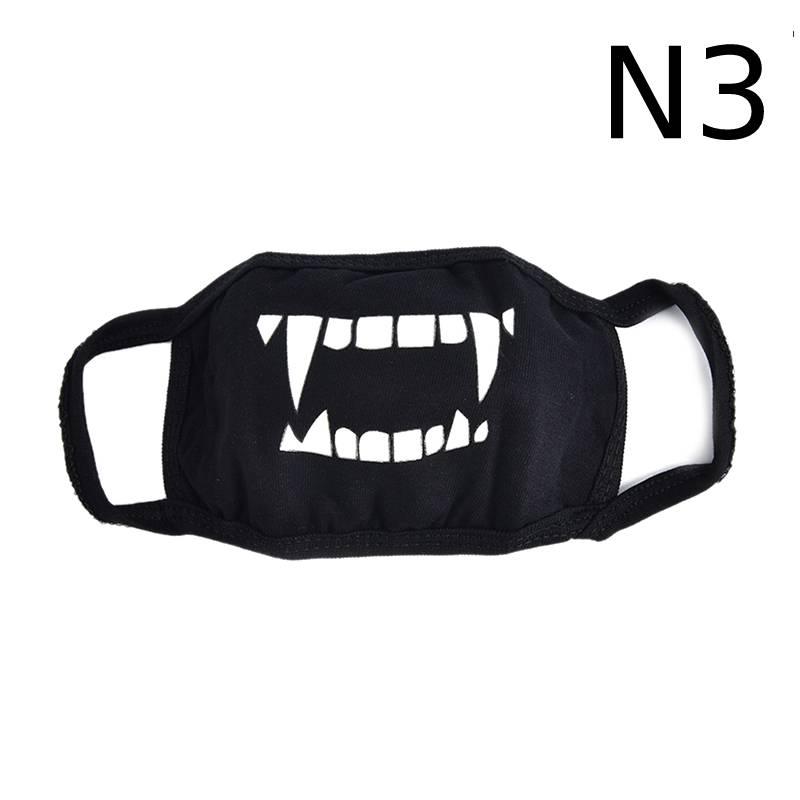 Маска для лица унисекс, хлопковая, Пылезащитная маска для лица, маска для лица, аниме, мультяшная, счастливый медведь, для женщин и мужчин, муфельная маска для лица, Вечерние Маски - Цвет: N3