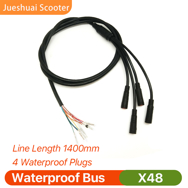 Scooter elétrico x48 ônibus impermeável linha de fio principal comprimento 1400mm 4 plugues scooter elétrico x48 acessórios exclusivos