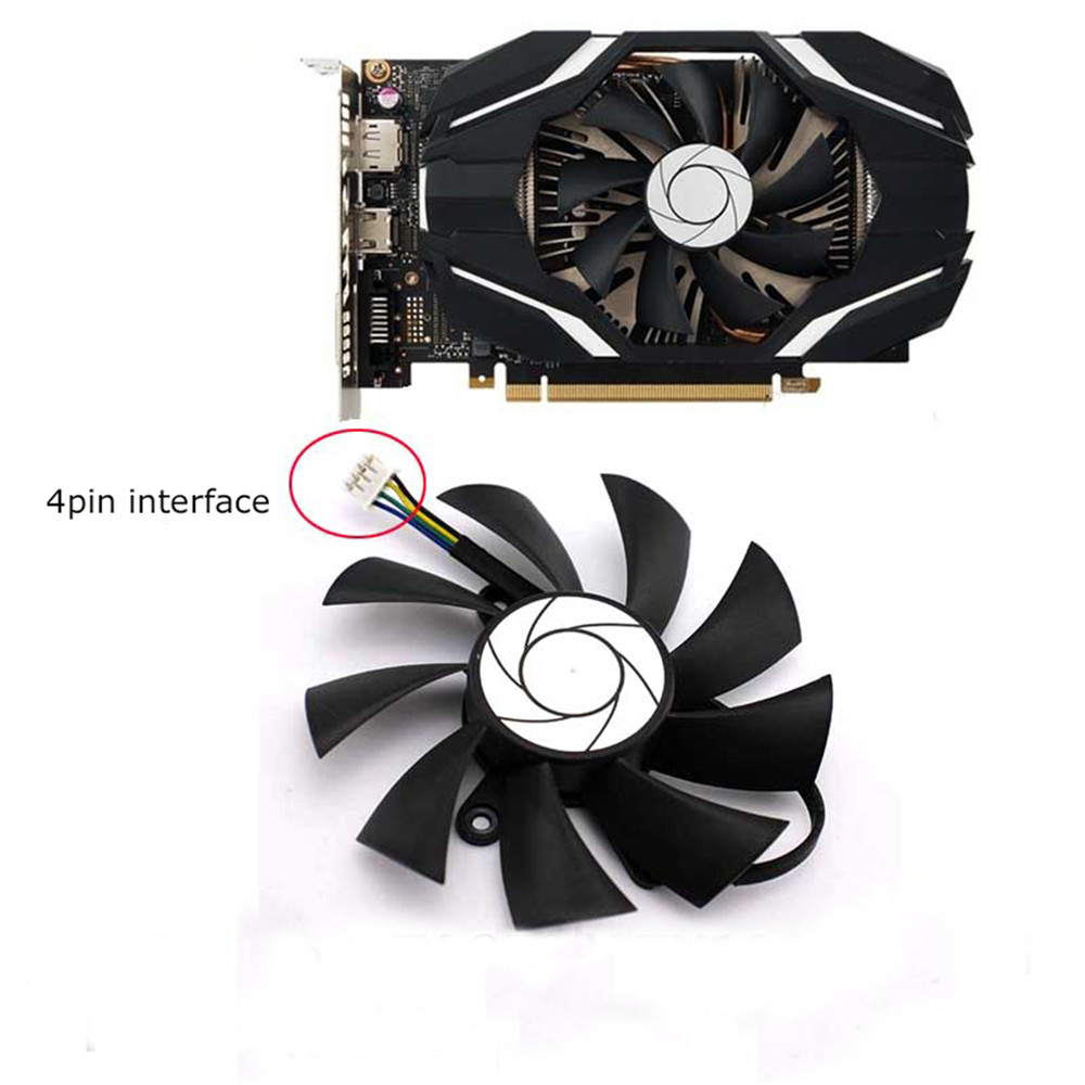DC 12V Cooling Single Fan 4-Pin for MSI R7 360 <font><b>2GD5</b></font> OC For MSI <font><b>GeForce</b></font> <font><b>GTX</b></font> <font><b>950</b></font> <font><b>2GD5</b></font> OC For MSI <font><b>GeForce</b></font> <font><b>GTX</b></font> 1060 6G OC image