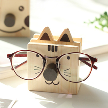 Stationery Solid Wood Cute Animal Multi-function Pen Holder Glasses Frame Creative Desktop Storage Rack Mobile Phone Holder