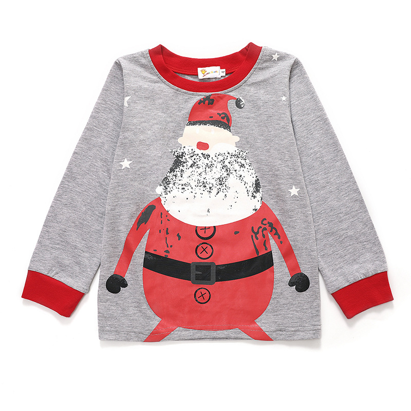 Littlehand Autumn And Winter New Style Childrenswear Santa Claus Long Sleeve Cotton Pajamas Two Case Home Wear