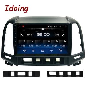 "Image 2 - Idoing 9 ""1Din Android Auto Radio Multimedia Stereo Audio Player Navi GPS Für Hyundai Santa Fe 2 2006 2012 4G + 64G Octa Core DSP"