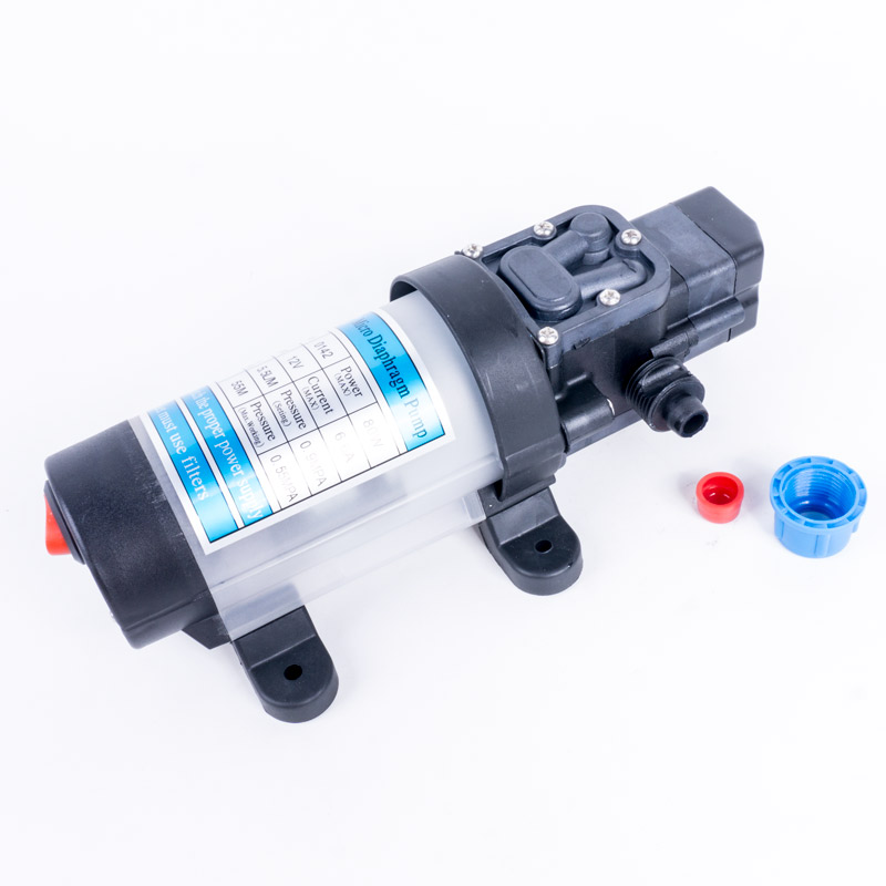 DC 24V 80W 5.5L//MIN Diaphragm Self Priming Water Pump with Automatic Pressure Switch Electric Diaphragm Pump
