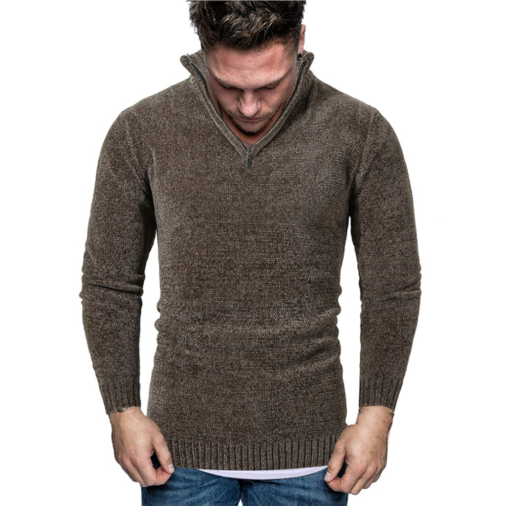 Men Autumn Winter Turtleneck Casual Long Sleeve Knitting Sweaters Tops Blouse Mens Sweater Casual Coats Outwear Fashion Sports