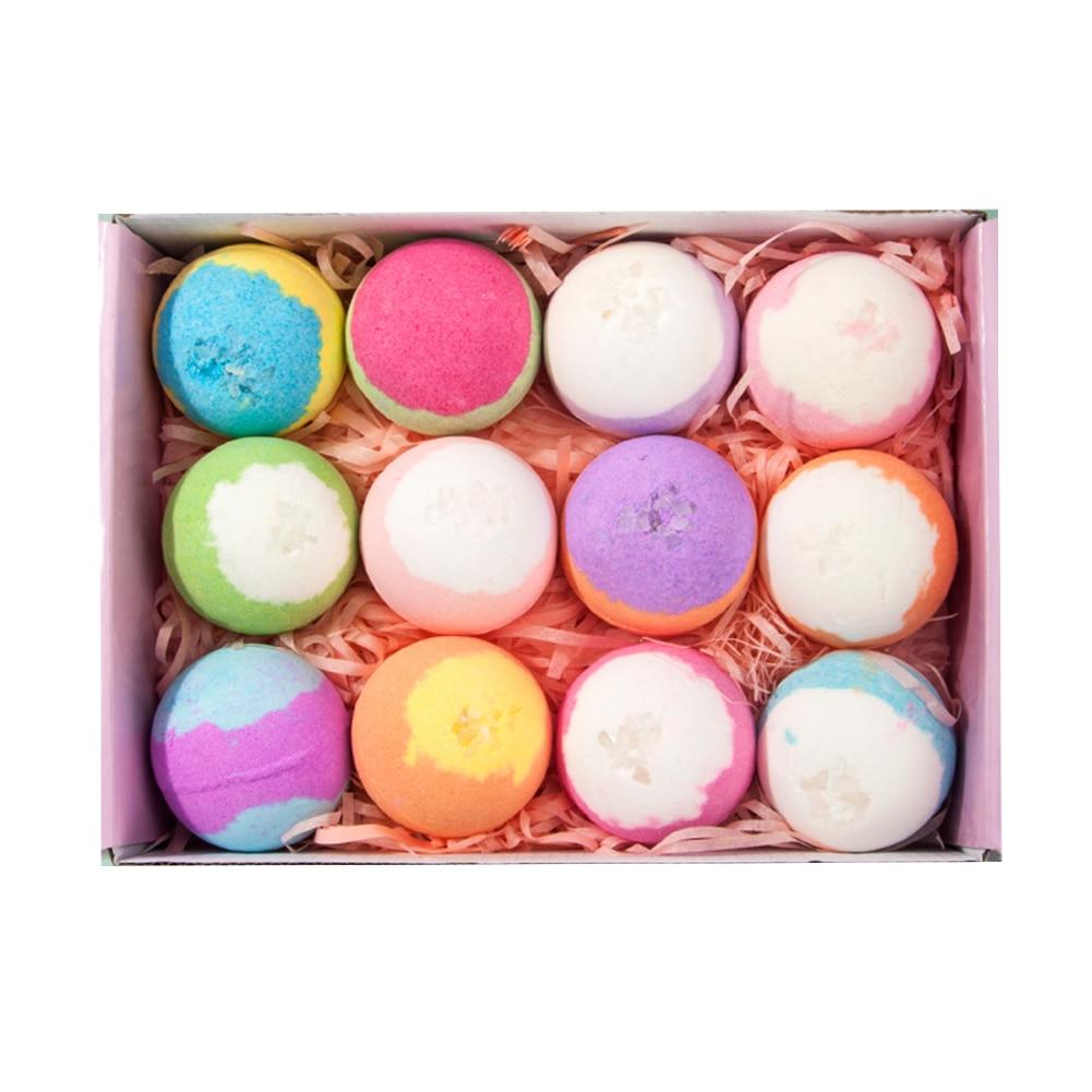 12pcs Natural Organic Bubble Bath Bombs Ball Handmade Salt Balls Soften Cuticle Bubble Bath Care for Moisturizing Skin New Arrivals