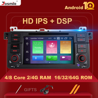 4GB DSP 1 Din Android 10 GPS Navigation For BMW E46 M3 Rover 75 Coupe 318/320/325/330/335 Car Radio Multimedia DVD Player Stereo