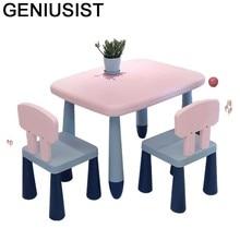 Dla mijia – Chaise De bureau en plastique pour enfants, Table d'étude pour maternelle