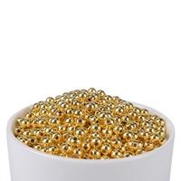 200Pcs / Lot Gold Gun Metal Pearl perforated Acrylic Imitation Pearl Spacer Pearl Clothing Headdress Bag DIY Jewelry Making