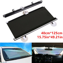 Windshield Sun Visor Sun Anti-UV Block Sun Visor Black 40*125cm PVC Auto(China)