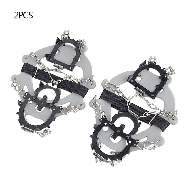 Crampons Traction Snow Grips Durable Anti-slip Wear-resistant 12-Spikes Safe Protect For Hiking Climbing Mountaineering