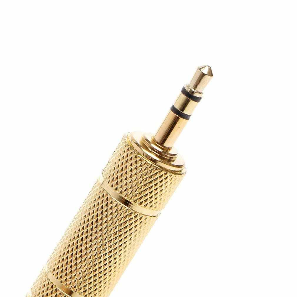 "Mayitr 2 قطعة 6.35 مللي متر جاك كابل ستيريو الذهب 6.5 مللي متر 1/4 ""الذكور إلى 3.5 مللي متر الإناث محول الصوت تحويل ل سماعة ميكروفون"