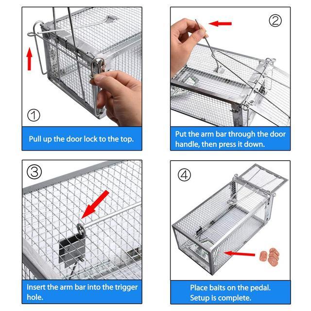 Mouse Cage Mousetrap High Sensitivity Pedal Trap Cage Rodent Killer