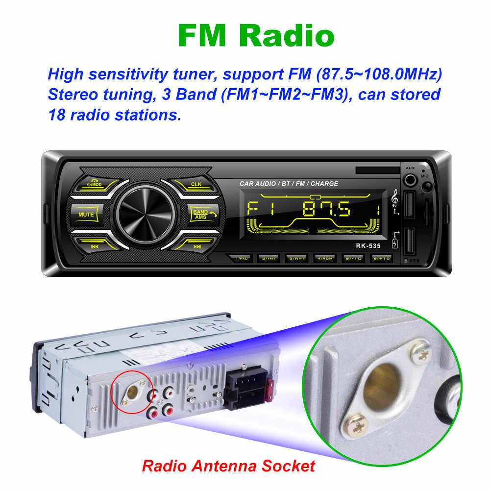 車ステレオオーディオインダッシュ Aux 入力 Fm ラジオ SD USB MP3 ラジオプレーヤー 8.26gh