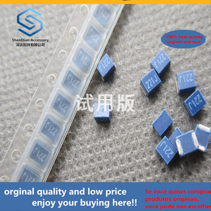 50pcs 100% Orginal New Best Quality Wirewound Inductor 1210 220uH 5% NLV32T-221J-PF Plastic Package Inductor Silk Screen: 221
