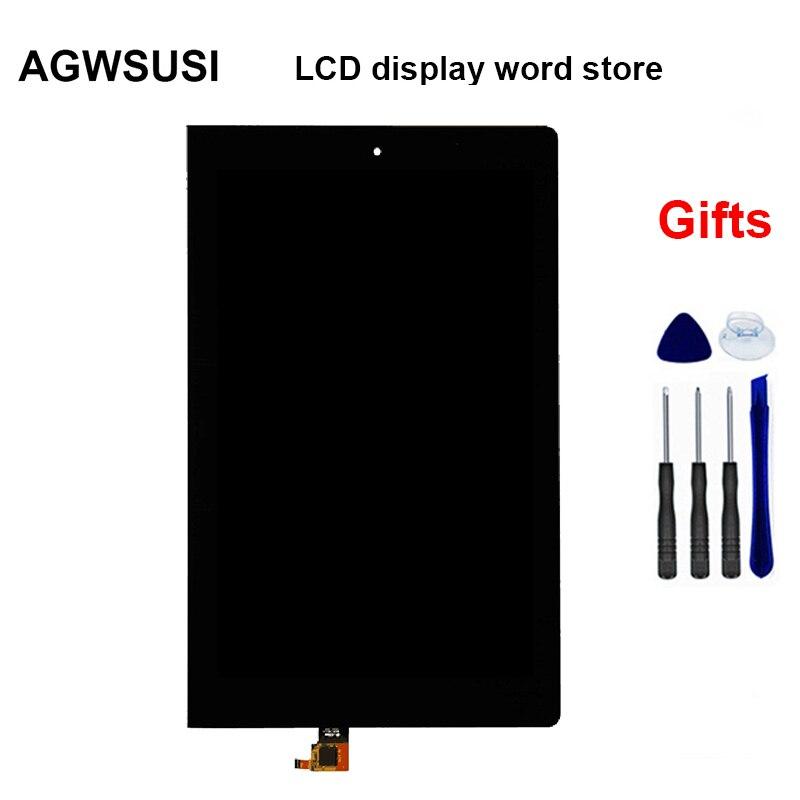 Bilgisayar ve Ofis'ten Tablet LCD'ler ve Paneller'de Siyah Lenovo Yoga 10 için B8000 B8000 H 60047 lcd ekran ekran paneli + dokunmatik ekran digitizer sensörü cam meclisi title=