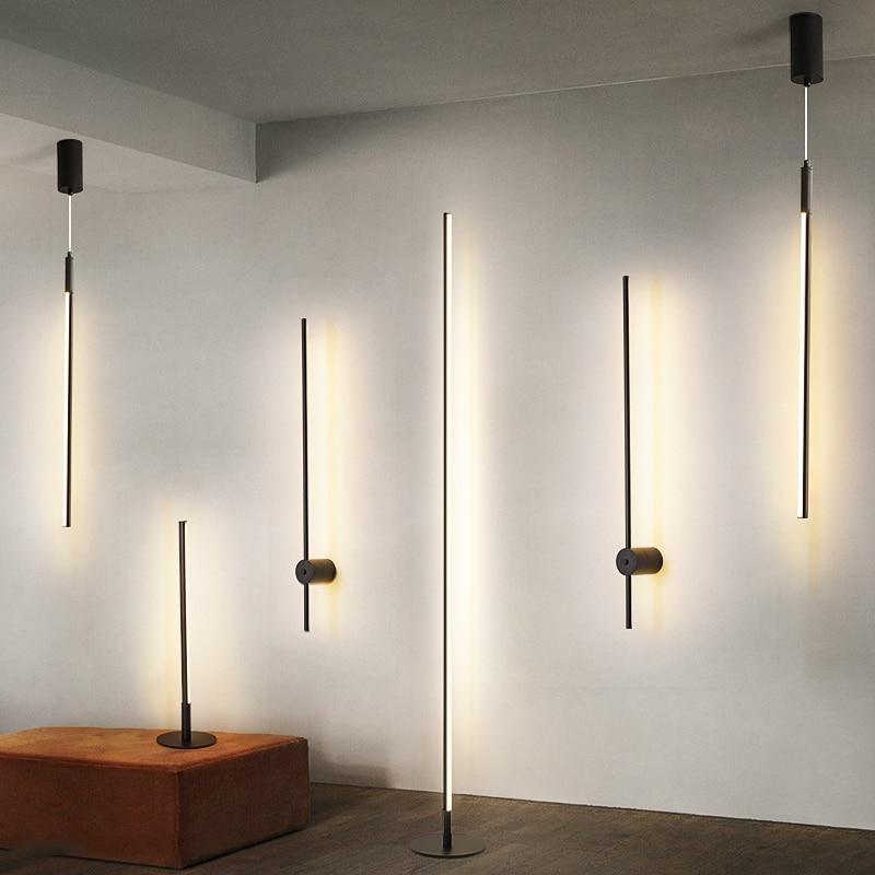 Modern LED Pendant Lights Simple Suspended Lighting Nordic Loft Dimming Home Pendant Lamp Bedroom Hanging Lamp Kitchen Lustre