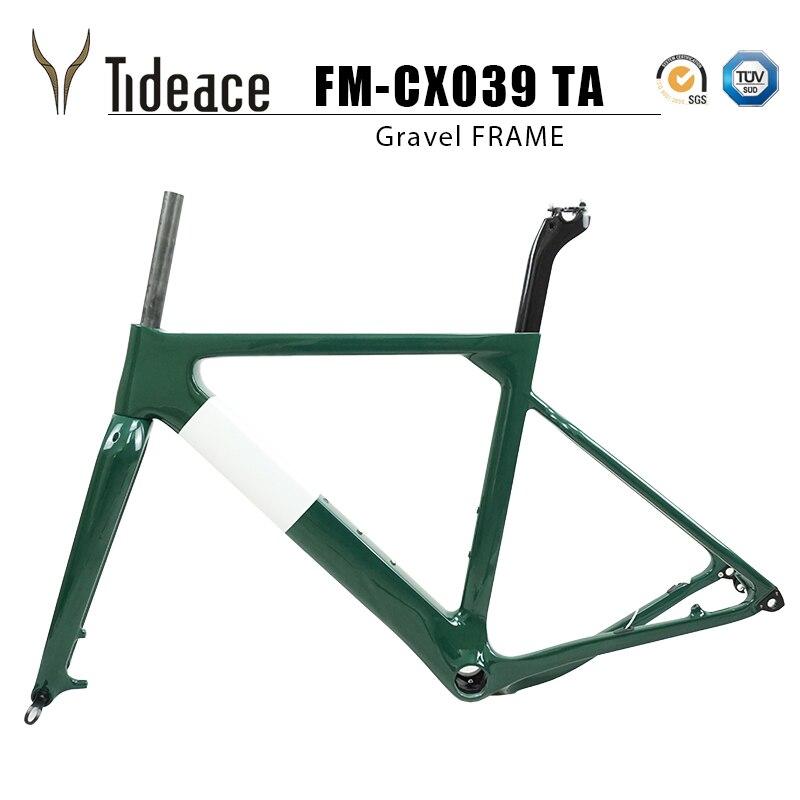Tideace 2019 poteau mount Aero gravier cadre de vélo S/M/L disque vélo carbone gravier cadre QR ou à travers l'axe