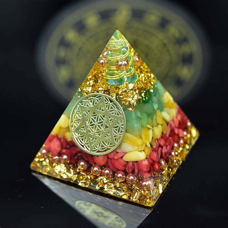 Orgonite Energy Pyramid For Chakra Healing Meditation Yoga Development Balancing Positive Energy Natural Crystal For Gift