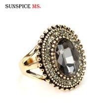 SUNSPICE MS Retro kolor srebrny naturalny kamienny pierścień czerwony kolor zielony bohema z żywicy palec europejski indyjski biżuteria