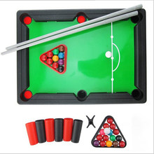 Mini Billiards Snooker Toy Set Board Toy for Children Parent Home Party Game Table Tennis Board Games Mini Tabletop Pool Set(China)