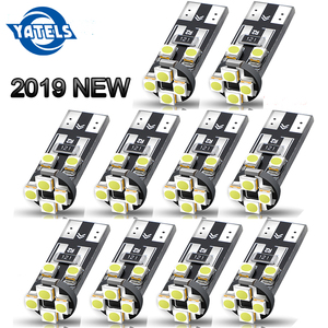 10 PCS T10 LED Canbus 8 SMD 3528 LED 194 168 W5W Bulbs White Lamps Auto Car Interior Instrument Dome Trunk License Plate Lights(China)