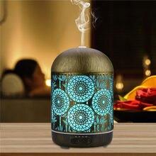 300ML Ultraschall-luftbefeuchter Aromatherapie Ätherisches Öl Diffusor 7 Farben Nachtlicht Automatische Abschaltung Timer Büro Schlafzimmer Hause