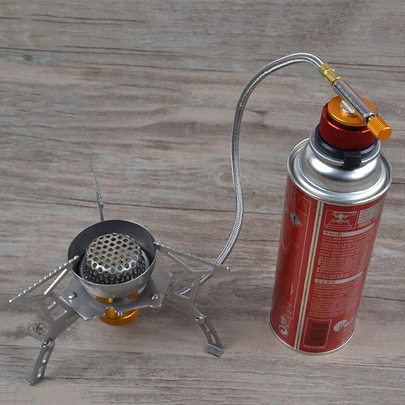 Camping Stove Burner Adaptor Conversion Outdoor Valve Connectors Gas Adapter PXPF