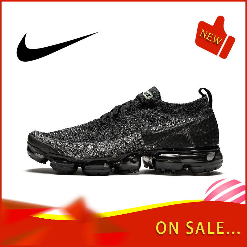 Original Authentic NIKE AIR VAPORMAX FLYKNIT 2.0 Men's Running Shoes Outdoor Wear Sports Shoes Breathable 2019 New 942842-001
