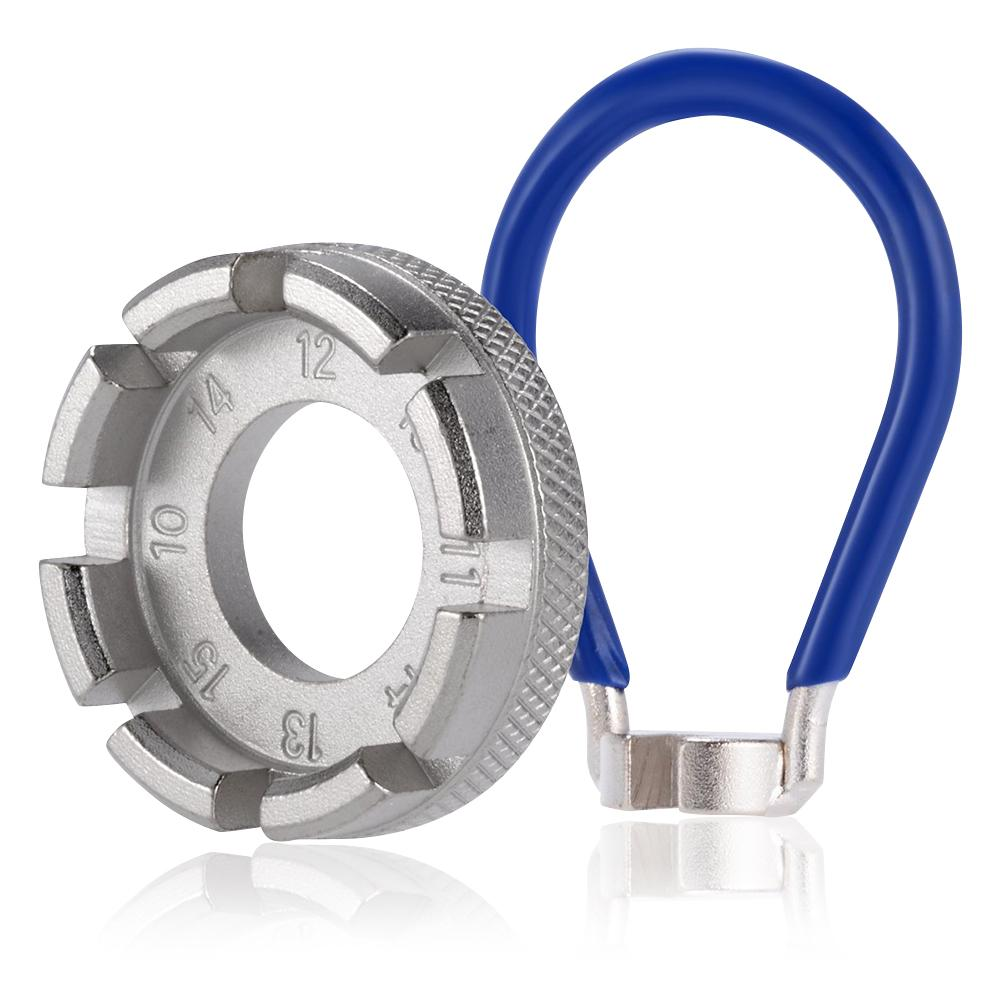 Tool Durable Steel Bike Wheel Nipples Repair 6 Size Tool Bicycle Spoke Wrench