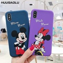 Cute Mickey Minnie Mouse Case For iPhone 11 Pro X XS MAX XR Case Silicone Etui Coque For iPhone 6 S 6S 7 8 Plus Phone Cover(China)