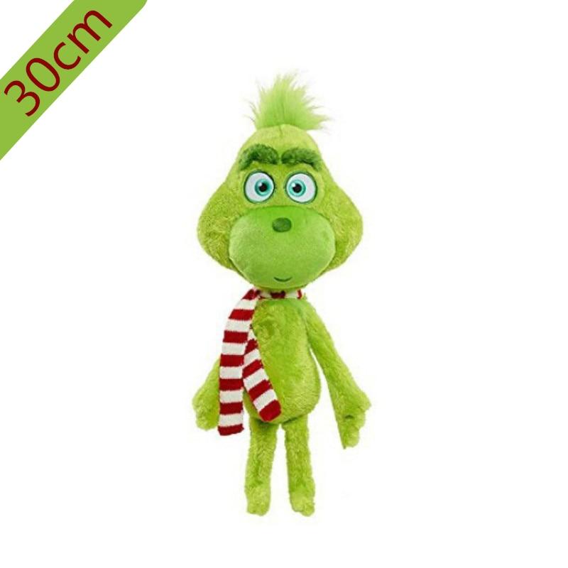 30cm Grinch Plush Toys Max Dog Plush Doll Toy Soft Stuffed Toys For Children Kids Birthday Festival Gifts