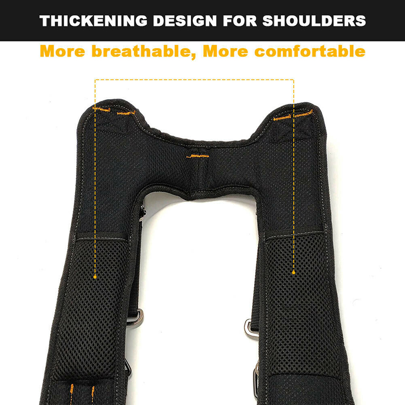 Padded Heavy duty Work Tool Belt Braces Suspenders For Tool Pouch+4 Support Loop
