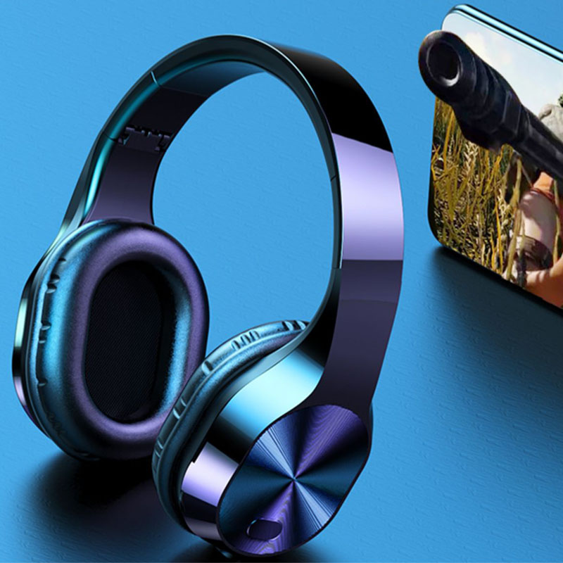 T5 Headphones Support TF Card 3.5mm Jack LED Light Wireless Bluetooth Headphones 9D Stereo Earphones Music Headsets With Mic