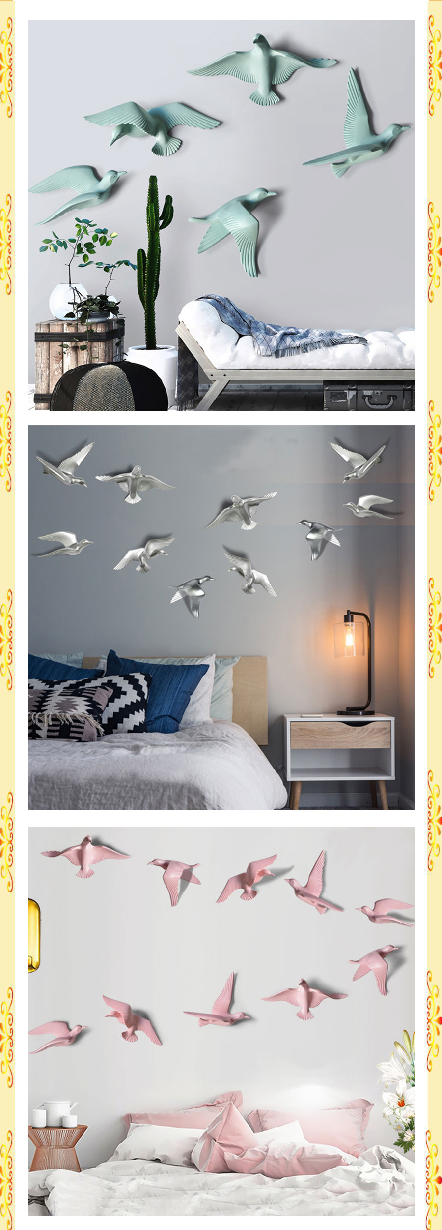 5pcs Hanging Birds For Home Decor Free Shipping