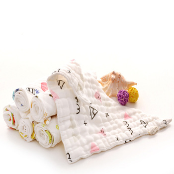 Eight-layers Muslin Cotton Gauze Baby Bibs Triangle Drooling Towel Newborn Bib Autumn Winter Thickening Soft Non-flurescent image