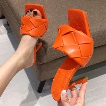 2020 SHEERA Sandalias de tacón alto de 9cm para mujer y zapatos...