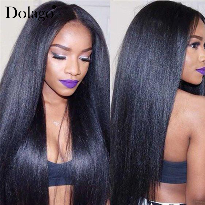 Yaki Human Hair Brazilian Hair Weave Bundles 3 Light Yaki Straight Hair Extensions 1 Piece Dolago Remy Human Hair Products