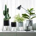Norte Da Europa vento geométrica criativo vaso sala de estar em casa decorações simples modern ferro flor rack utensílios ins