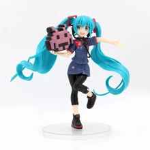 Anime Hatsune Miku Game Ver PVC Action Figure Collectible Model doll toy 20cm anime hatsune miku v4x vocal project diva pvc action figure juguetes collectible model doll kids toys 20cm