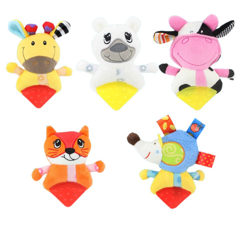 ChildKing Newborn Baby Plush Stroller Toys Baby Rattles Mobiles Cartoon Animal Hanging Bell Educational Baby Toys 0-12 Months
